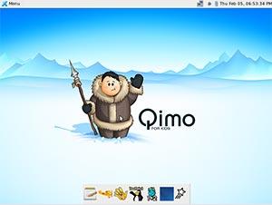 Imagen del escritorio de Qimo.