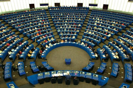 Interior del Parlamento Europeo.